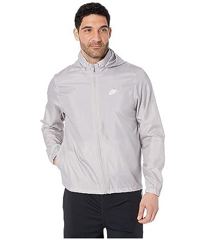 Nike NSW Hooded Woven Windbreaker Jacket (Atmosphere Grey/White) Men