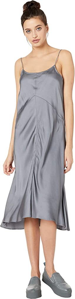 Satin Seamed Slip Dress