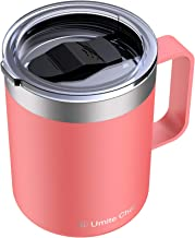 Umite Chef Stainless Steel Insulated Coffee Mug Tumbler with Handle, 12 oz Double Wall Vacuum Tumbler Cup with Lid Insulat...