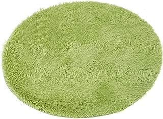 round pink shag rug