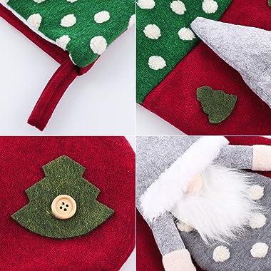 "TOYANDONA Christmas Stockings, Big Xmas Stockings Decoration - 18"" Santa Xmas Character for Party Decoration Home Decor S"