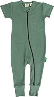 Parade Organics Essential Basics '2-Way' Zip Romper - Short Sleeve