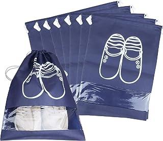 Sacs de Voyage Respirants Sacs Organisateurs,Drawstring Portable Anti-poussi/ère avec Fen/être Transparente 12 pcs Sacs /à Chaussures,Housse Chaussures,Travel Sacs /à Chaussures de Voyage BETOY