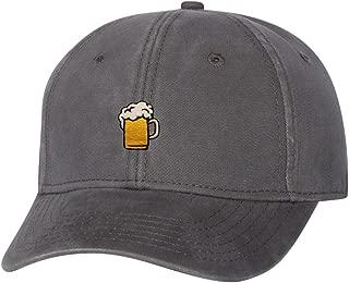Adult Beer Mug Embroidered Dad Hat Structured Cap