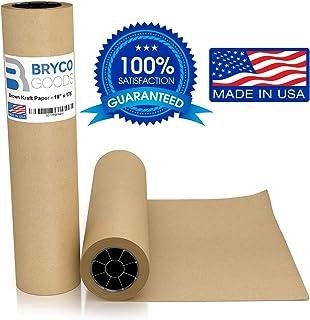 Rollo de papel kraft de color café, 45,7 x 55,9 cm,