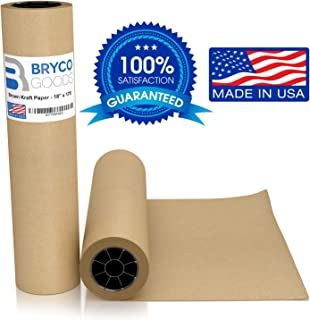 "Brown Jumbo Kraft Paper Roll - 18"" x 2100"" (175') Made in The USA - Ideal for Packing, Moving, Gift Wrapping, Postal, Shipping, Parcel, Wall Art, Crafts, Bulletin Boards, Floor Covering, Table Runner"