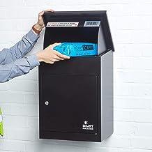 Smart Parcel Box, Middelgrote pakketbrievenbus met pakketvak en brievenbus, veilige pakketkast voor thuis en bedrijf met t...