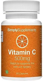 Vitamina C 500mg ¡Bote para 2 meses! Apto para veganos - SimplySupplements