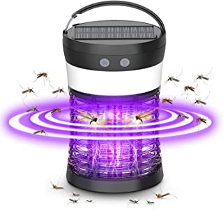 Bug Zapper, okk Portable Electronic Mosquito Killer with 9 Hours Working Time and Solar Insect Killer Lantern Safety 4-in-...