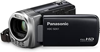 Panasonic HDC SDX1EG H Full HD Camcorder (SD Kartenslot, 16 fach opt. Zoom, 6,9 cm (2,7 Zoll) Display, Bildstabilisator) anthrazit