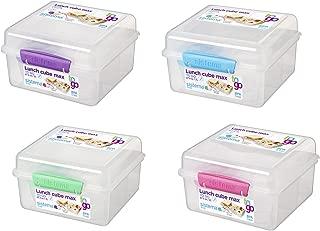 Sistema 21745 2 Liter Clear Lunch Cube Max Box