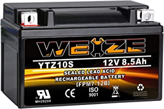 UB-YTZ10S-BS Replacement for 2009 Yamaha YZF-R6 8.6Ah Maintenance Free Motorcycle Battery excl. R6S 12V 600CC Factory Activated
