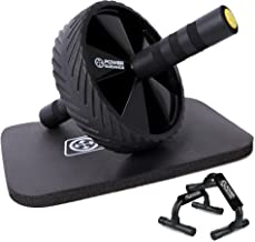 POWER GUIDANCE AB Wheel & Push Up Bar, Exercise Home Gym Equipment voor 6 Pack Abs & Core Workout Roller - met innovatief ...