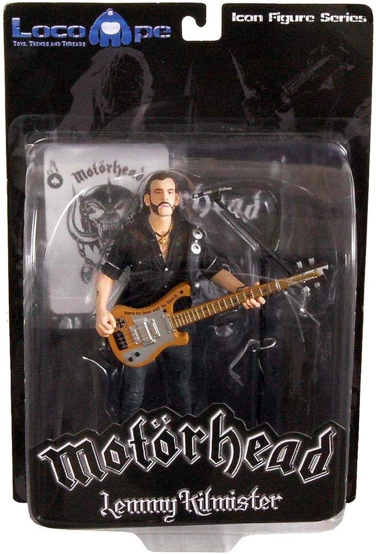Motorhead Lemmy Kilmister 7  Icon Figure Rickenbacker Guitar Cross