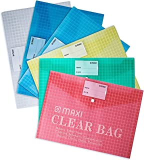 Maxi F/S Clear Bag With Name Card Assorted 6Pc, MY CLEAR BAG, 209A