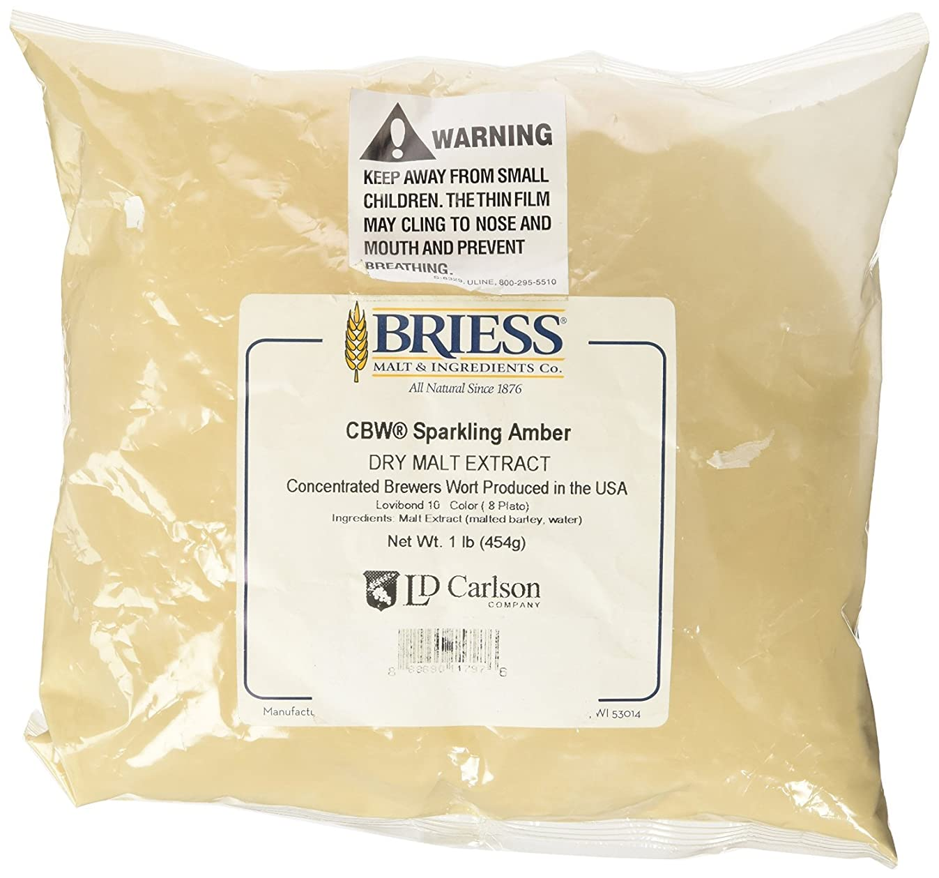 Briess CBW Dry Malt Extract (DME) for Home Beer Brewing (Sparkling Amber, 1 lb.)