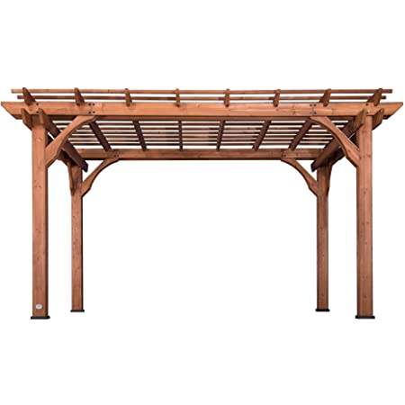 Amazon Com Bjorn Woodworks Pergola Kit Or Elevated Wood Stand Kit With Steel Brackets Modular Sizing Pergola Brackets Boot Shoulder And Lag Bolts For 4x4 Lumber Garden Outdoor