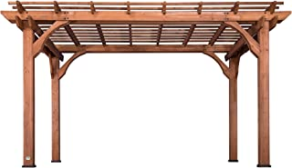 Backyard Discovery 1802513 Wooden Sturdy Pergola, 10' x 14', Cedar Stained
