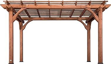 Backyard Discovery 1802513 Wooden Sturdy Pergola, 10' x 14', Cedar Stained
