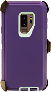 WallSkiN Turtle Series Cases for Samsung Galaxy S9 Plus/Galaxy S9+ (Only) Tough Protection with Kickstand & Holster - Ambition (Purple/Beau Blue)