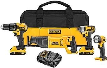 DEWALT 20V MAX Combo Kit, Compact 4-Tool (DCK420D2)
