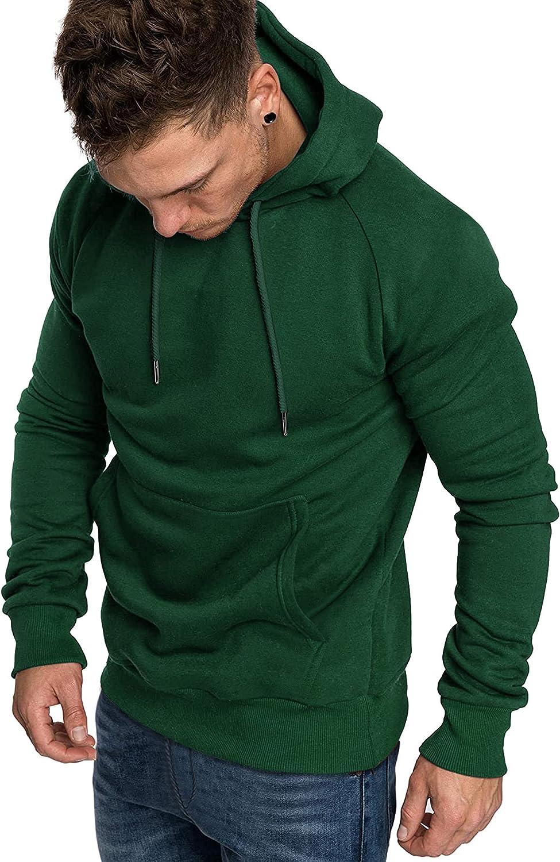 COOFANDY Mens Casual Hoodies Lightweight Raglan Long Sleeved Hooded Sweatshirts