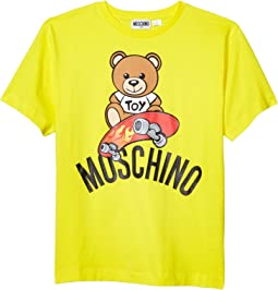 Short Sleeve Tee Bear on Skate Board (Big Kids)