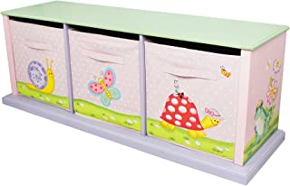 Fantasy Fields - Magic Garden Thematic 3 Drawer Cubby   Imagination InspiringHand Crafted & Hand Painted Details   Non-Toxic, Lead Free Water-based Paint