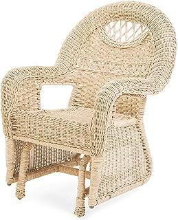 Prospect Hill Wicker Chair Glider, Cloud White