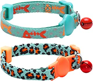 Blueberry Pet 7 Patterns Breakaway Safety Cat Collars, Personalized Cat Collars, Cat Harness & Leash Sets
