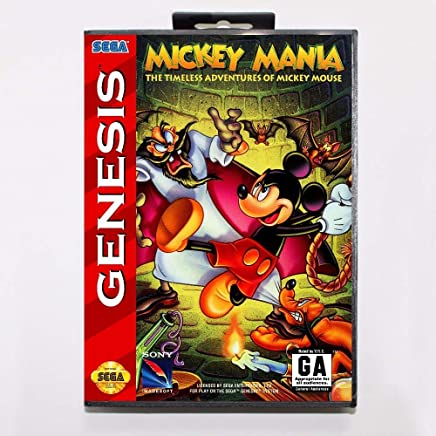 2447ddc55b0 ROMGame Mickey Mania The Timeless Adventures Of Mickey Mouse 16 Bit Md Game  Card With Retail