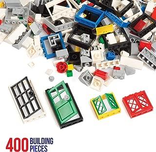 Barcaloo 400 Piece Window, Door, and Roof Set - Building Brick Compatible Play Kit