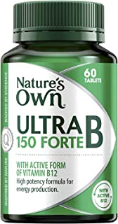 Nature's Own Ultra B 150 Forte - Coenzyme - Assists in Metabolism - Supports Cognitive Function and Nervous System, 60 Tab...