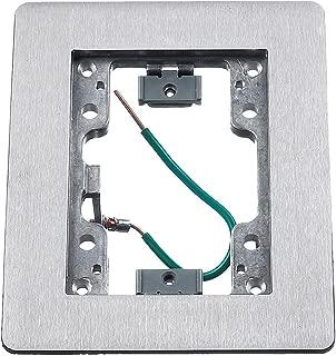 Hubbell Wiring Systems SA3083W Aluminum 1-Gang Floor Box Rectangular Flat Flange, 4-24/32