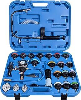 COSTWAY 28 TLG. Kühlsystem Prüfgerät Kühler Drucktester Werkzeug Vakuum Abdrückgerät Prüfer Kühler (Blau)