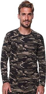 Men Thermal Underwear Top by Outland; Base Layer; Soft Lightweight Warm Fleece