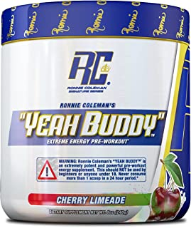 Ronnie Coleman Signature Series Yeah Buddy 30 Serve Pre-Workout Supplement, Cherry Limeade, 8 Oz