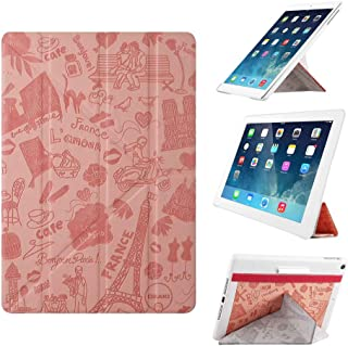 iPad Air Case - OZAKI O!coat Travel 360° Multi Angle Smart Case For Apple iPad Air. 2012 Red Dot Design / Adjustable 360° Multi-angle Viewing / Y-cover tri-axial Stand / Auto Sleep & Wake - Paris