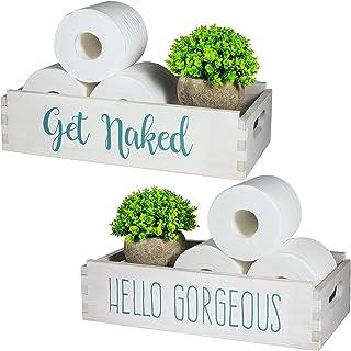 TJ.MOREE Get Naked/Hello ゴージャスなバスルーム装飾ボックス ホームインテリア ファームハウス 新築祝いギフト メイクアップテーブル装飾ボックス