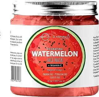 O Naturals Hydrating Watermelon & Vitamin C Gel Face Mask. Nourishing, Moisturizing & Toning. Great for Combination Skin, w/Hyaluronic Acid Rich in Vitamins A & C & B6. Anti-Aging, Antioxidants. 8 Oz