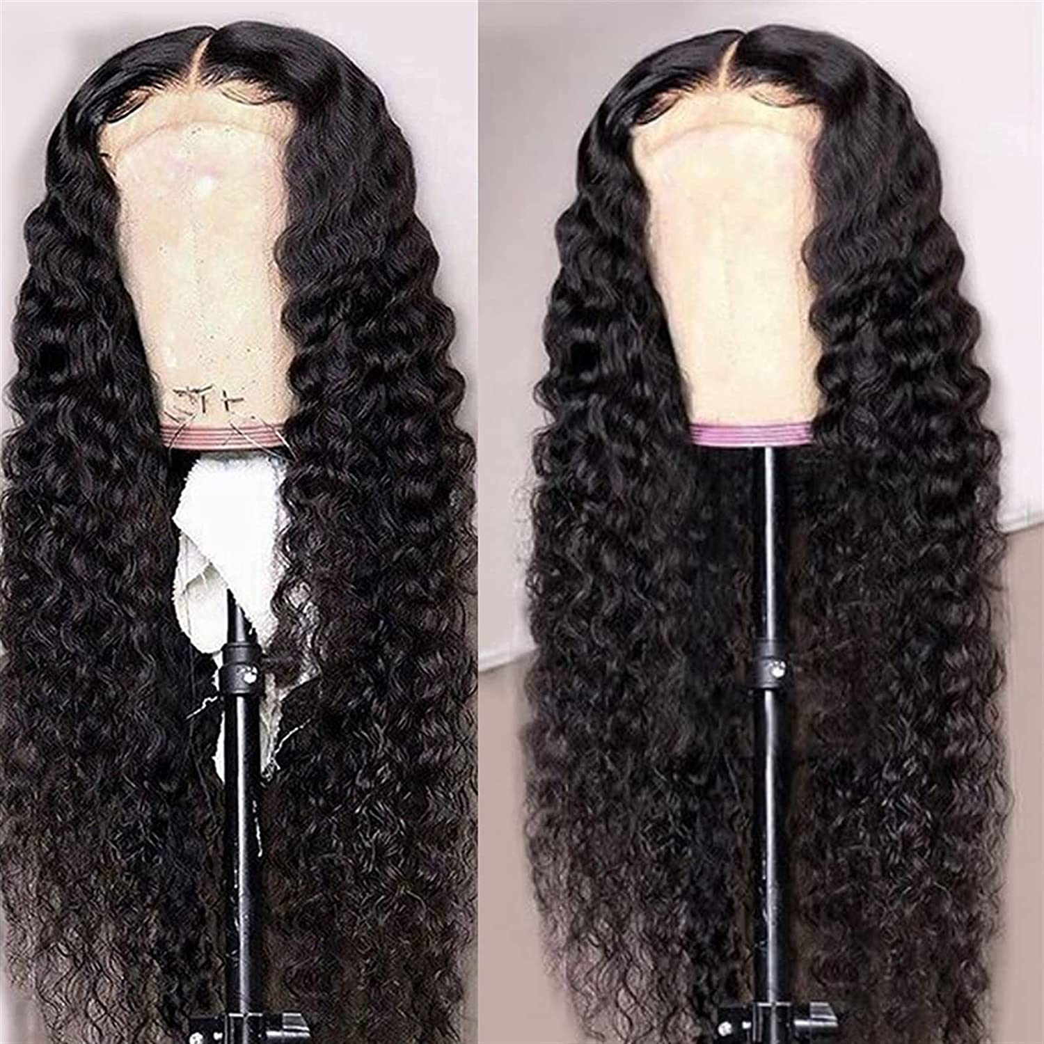 wig Frontal Wig HD trust Transparent 5x5 Curly Lace H Closure New mail order Deep