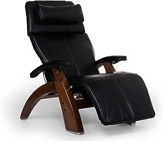 Perfect Chair Human Touch PC-610 LIVE Power Omni-Motion Walnut Zero-Gravity Recliner Premium Leather Fluid-Cell Cushion Memory Foam Jade Heat - Black Premium Leather (Renewed)