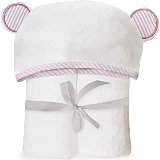 Ultra Soft Bamboo Hooded Baby Towel - Hooded Bath Towels with Ears for Babies, Toddlers - Large Baby Towel Perfect Baby Shower Gift for Boys and Girls - Pink by San Francisco Baby