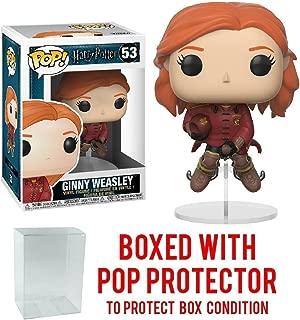 Funko Pop Movies: Harry Potter - Ginny Weasley on Broom Vinyl Figure (Bundled with Pop Box Protector Case)