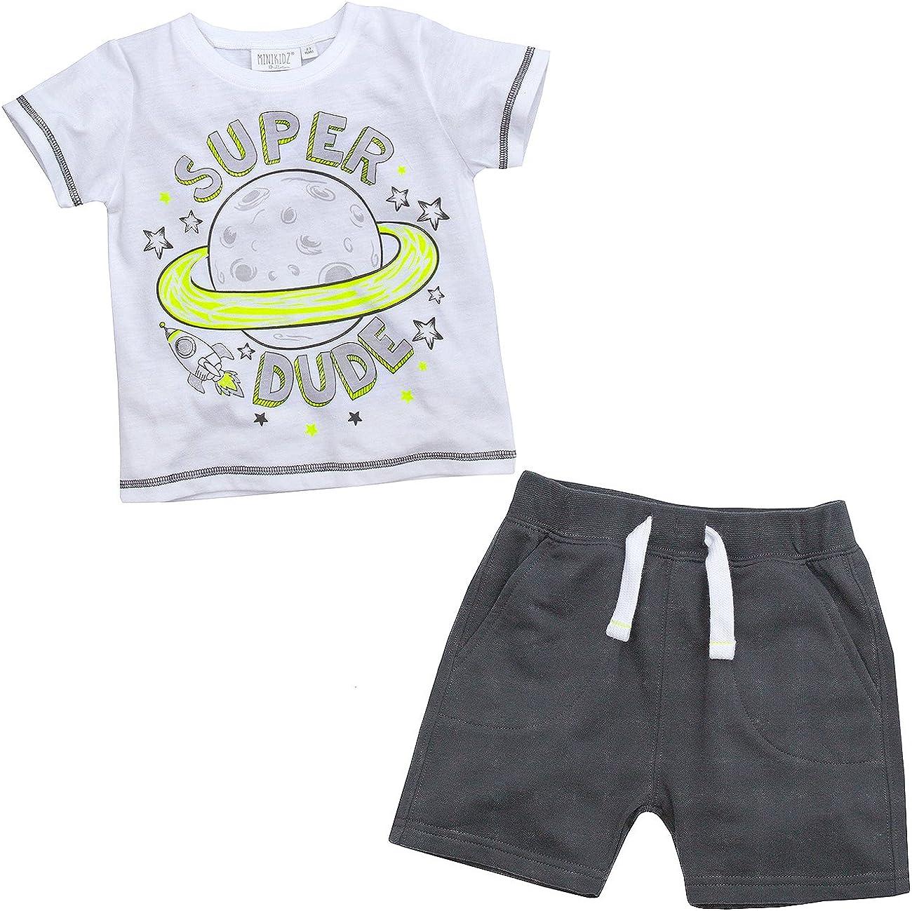 MiniKidz Boys Super Dude T Shirt and Space ~ Shorts Set Rocket 4 years San Diego Mall warranty