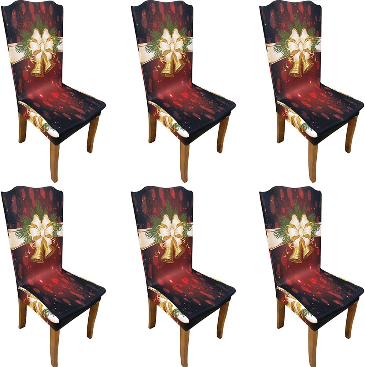 Christmas Dining Room Chair Covers Set Chairs Stretch Max 55% Boston Mall OFF of 6 Remo