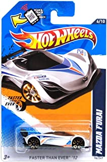 Hot Wheels 2012 096 Collector # 96 / 247 Mazda Furai White FTE Faster Than Ever Wheels on Scan And Track Card