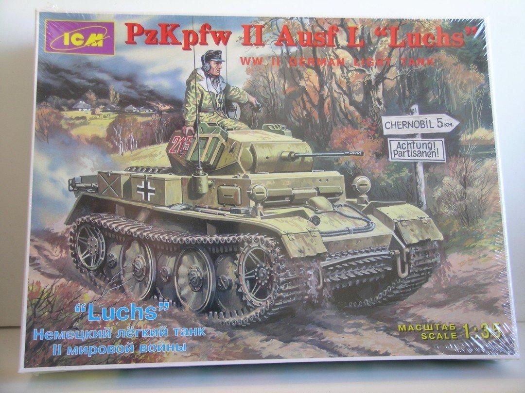"""ICM """"PzKpfw II Ausf L Luchs German Light Tank"""" Plastic Model Kit"""