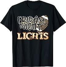 Friday Night Lights Retro Football Bulb Cheetah Leopard  T-Shirt