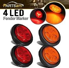 Partsam 2 Amber + 2 Red Truck Trailer 2.5